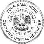 Louisiana Certified Digital Reporter ES Pocket Seal
